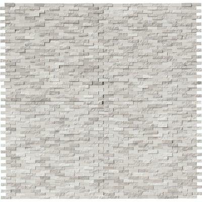 White Oak Split Face 12 in. x 12 in. 10mm Marble Mesh-Mounted Mosaic Tile (10 sq. ft./Case)
