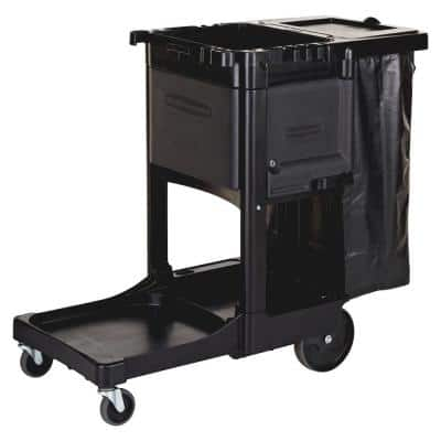 21.8 in. x 46 in. x 38 in. Executive Janitor Cleaning Cart