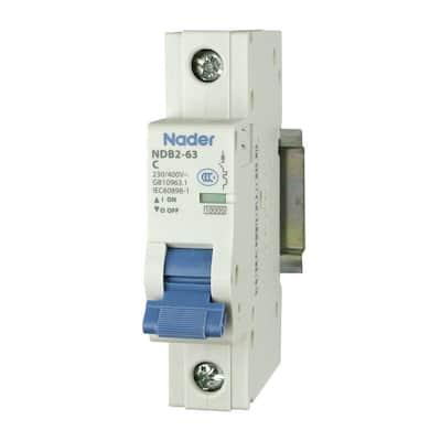 50 Amp 240Vac/60Vdc 1-Pole Miniature Circuit Breaker DIN Rail Mount