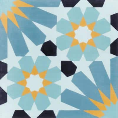 Tangier Primero 8 in. x 8 in. Cement Handmade Floor and Wall Tile (Box of 16/ 6.96 sq. ft.)