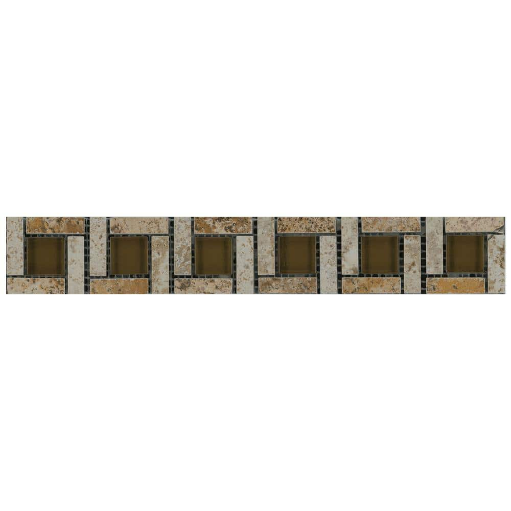 marazzi travisano navona 2 in x 12 in porcelain pinwheel trim wall tile 0 151 sq ft piece ulnw the home depot