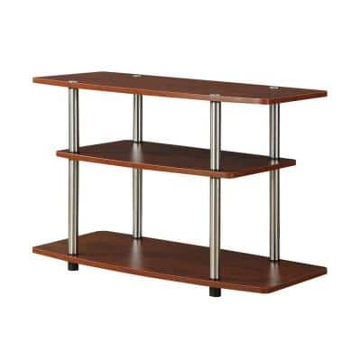 Designs2Go 31.5 in. Cherry Particle Board TV Stand 32 in. with Cable Management