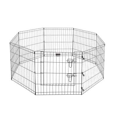 8-Panel 24 in. x 24 in. Exercise Playpen with Gate