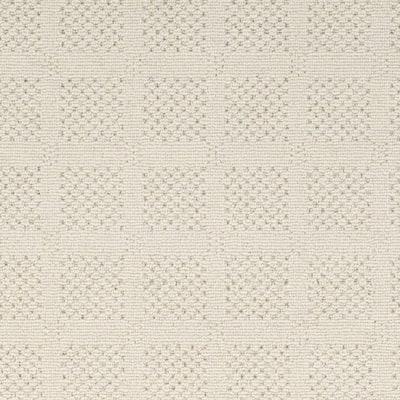 Desert Springs - Color Blanc Pattern White Carpet