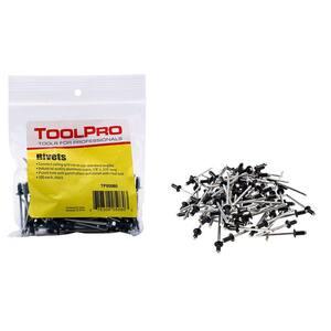 1/8 in. Black Aluminum Pull Rivets (100-Pieces)