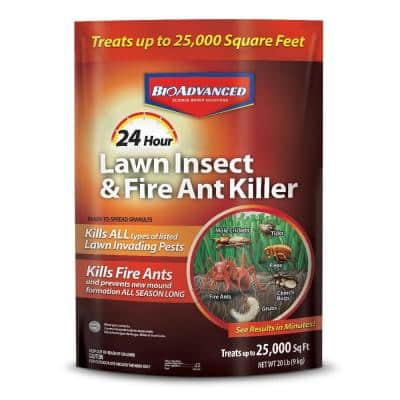 20 lbs. Granules 24-Hour Lawn Insect and Fire Ant Killer
