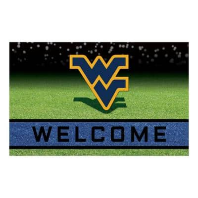 West Virginia University 18 in. x 30 in. Rubber Door Mat