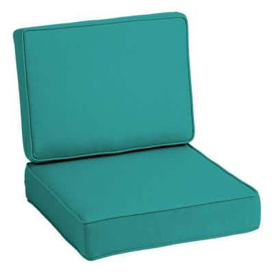 ProFoam 24 in. x 24 in. Surf Acrylic 2-Piece Deep Seating Outdoor Lounge Chair Cushion