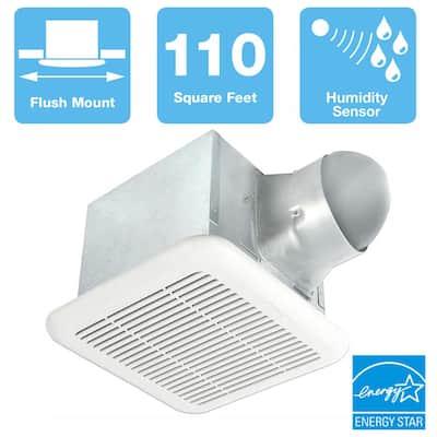 Signature 80/110 CFM Adjustable Speed Ceiling Bathroom Exhaust Fan with Humidity Sensor, ENERGY STAR