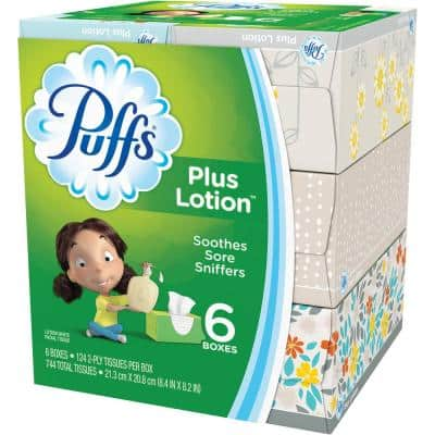 Plus Lotion 2-Ply Facial Tissue (6-Count)