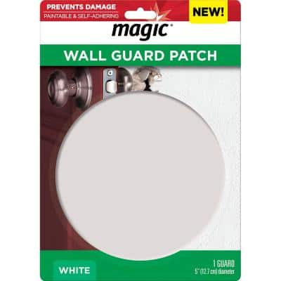 5 in. Round Wall Patch and Guard in White