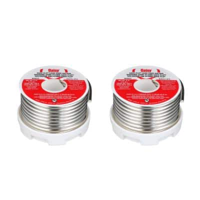 Safe Flo 8 oz. Lead-Free Silver Solder Wire (2-Pack)