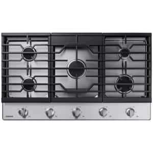 36 in. Gas Cooktop in Stainless Steel with 5-Burners