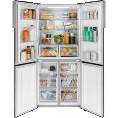 16.4 cu. ft. Quad French Door Freezer Refrigerator in Fingerprint Resistant Stainless Steel