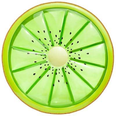 Fruit 10.5 in. Green Inflatable Kiwi Swimming Pool Water Float