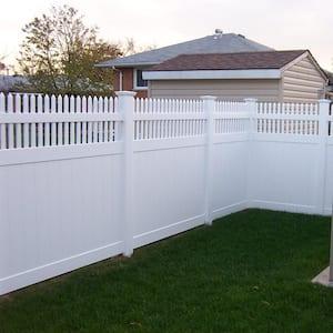 5 in. x 5 in. x 10 ft. White Vinyl Fence Line Post