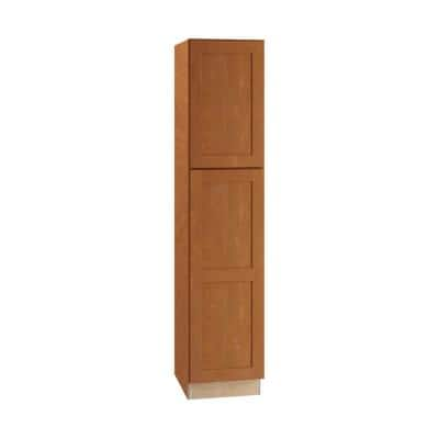 Hargrove Assembled 18 x 84 x 21 in. Plywood Shaker Vanity Linen Cabinet Left Soft Close in Stained Cinnamon