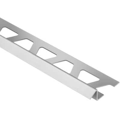 Reno-TK Brushed Stainless Steel 3/8 in. x 8 ft. 2-1/2 in. Metal Reducer Tile Edging Trim