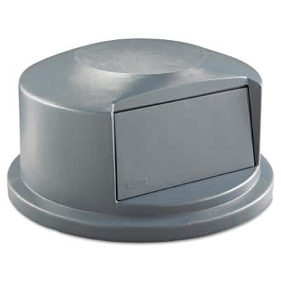 Brute 44 Gal. Grey Round Trash Can Dome Top Lid