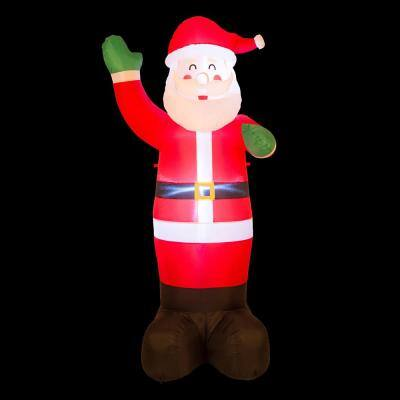12 ft. Lighted Inflatable Santa Decor