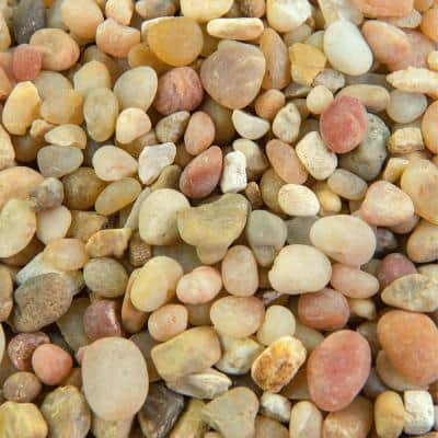 25 cu. ft. 3/8 in. Parchment Bulk Landscape Rock and Pebble for Gardening, Landscaping, Driveways and Walkways