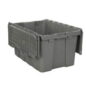 26-Gal. Commercial Flip Top Tote in Gray