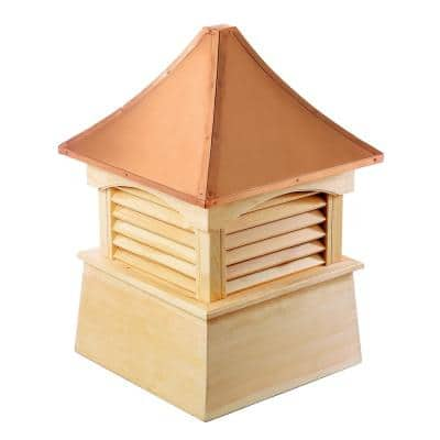 Coventry 36 in. x 49 in. Wood Cupola with Copper Roof