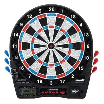 Showdown Electronic 15.5 in. Dartboard with Darts and Accessories