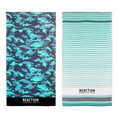 Camo and Geo Teeth Cotton 2pc Beach Towel Set