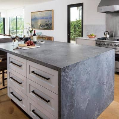 10 in. x 5 in. Quartz Countertop Sample in Rugged Concrete
