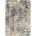 Zehra Taupe 5 ft. 3 in. x 7 ft. 3 in. Distressed Area Rug
