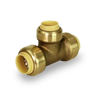 1 in. x 1 in. x 3/4 in. Push to Connect Reducing Tee Pipe Fitting for Pex, Copper and CPVC Piping