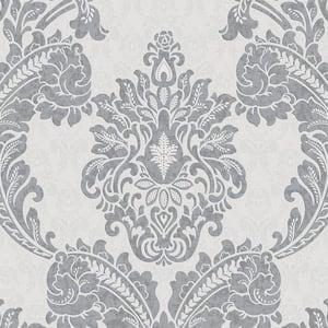 Regent Gray Vinyl Peelable Wallpaper (Covers 56 sq. ft.)