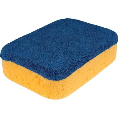 7 in. x 5.5 in. x 2 in. Microfiber Polishing Sponge for Grouting, Cleaning and Washing