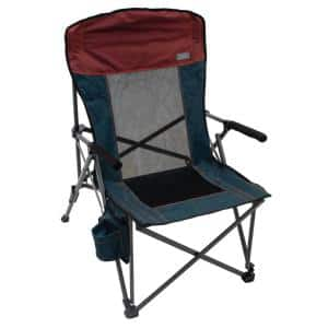 Red and Charcoal Steel Frame Hard-Armed XXL Comfort Quad Chair