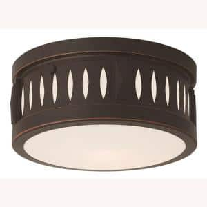 Vista 2 Light Olde Bronze Flush Mount