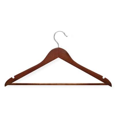 No Slip Wooden Coat Hangers, Cherry Wood (24 Pack)