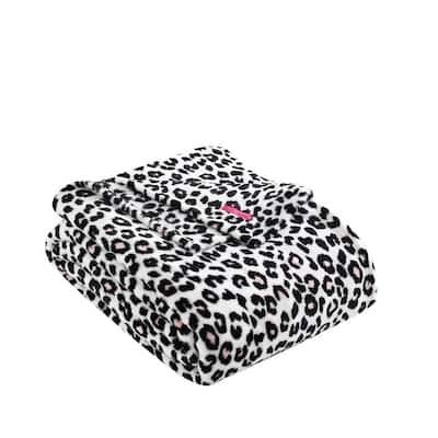Betseys Leopard Pink 1-Piece Ultra Soft Microfiber Plush King Blanket