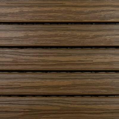 1 ft. x 1 ft. Premium Wood Deck Tile in Walnut (6-Tile/Case)