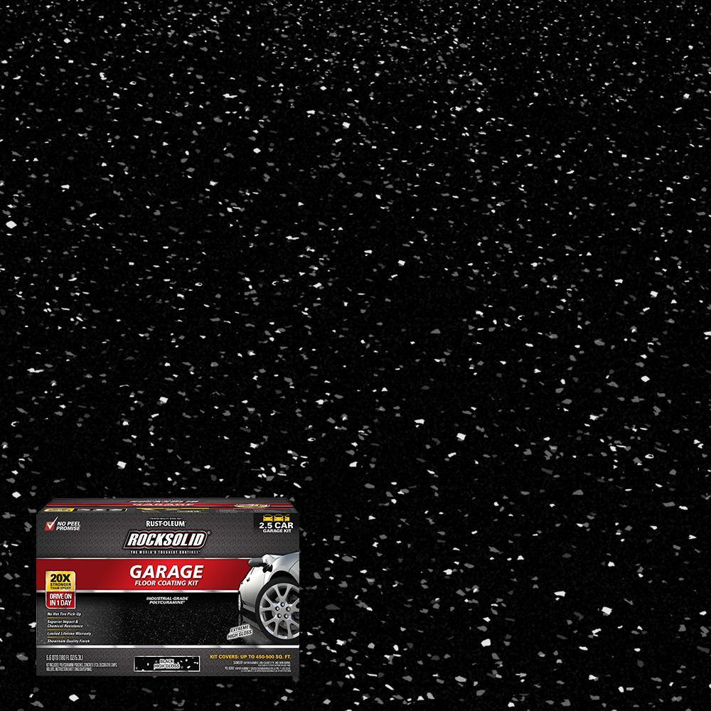 180 oz. Black Polycuramine 2.5 Car Garage Floor Kit