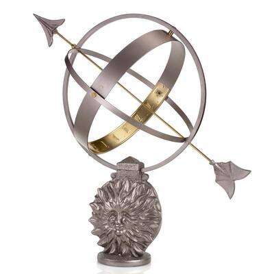 Sun and Moon Armillary Sundial