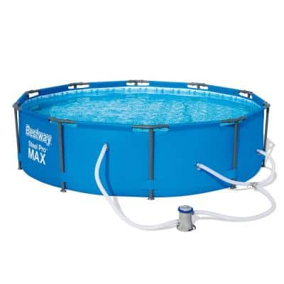 Round 10 Ft Above Ground Pools Pools The Home Depot