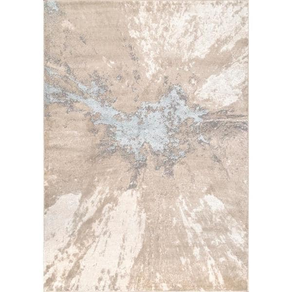 Nuloom Cyn Modern Abstract Beige 5 Ft X 8 Ft Area Rug Cfdr02c 508 The Home Depot
