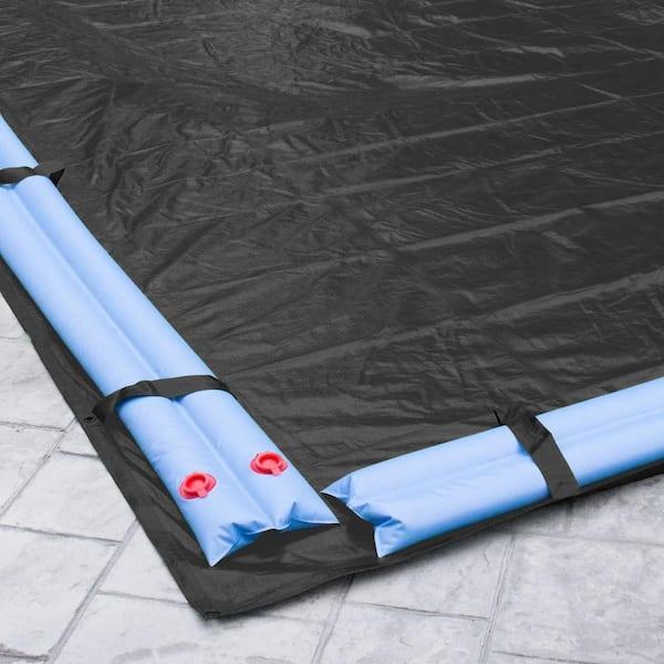 Robelle Mesh 18 Ft X 40 Ft Rectangular Black Mesh In Ground Winter Pool Cover 381840r The Home Depot
