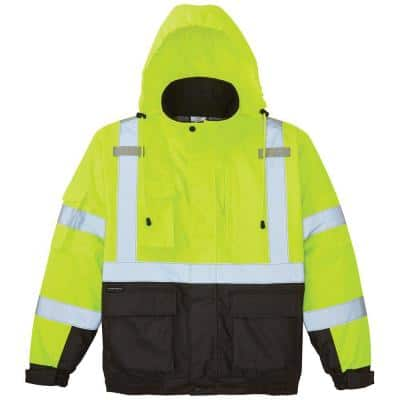 L High-Visibility Winter Bomber Jacket