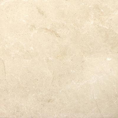 Marble Crema Marfil Plus Polished 17.99 in. x 17.99 in. Marble Floor and Wall Tile (2.25 sq. ft.)