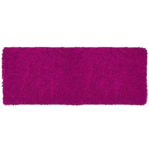 Shag Pink 24 in. x 60 in. Memory Foam Bath Mat
