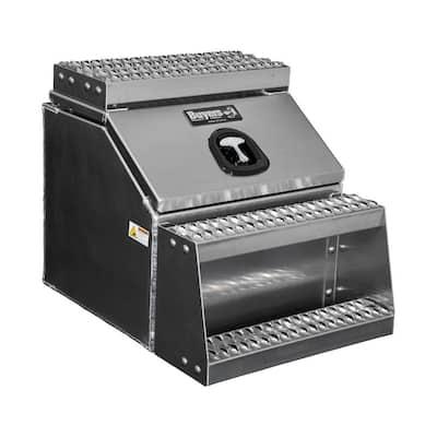 22 in. x 28 in. x 24 in. Class 8 Diamond Tread Aluminum Step Box
