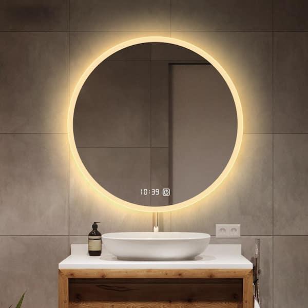 Kinwell 24 In W X H Frameless, Vanity Mirror With Lights Frameless