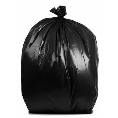 65 Gal. 3 mil 50 in. x 48 in. Black Trash Bags (30-Count)